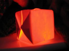 怎么折纸立方体的折法图解 放入LED灯变灯笼