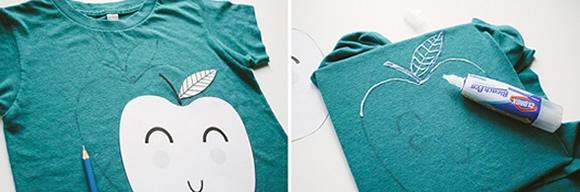 儿童手绘T恤怎么DIY
