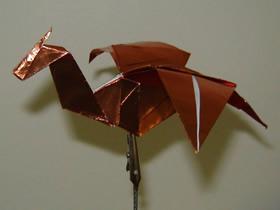怎么折纸带翅膀西方龙的折法详细步骤图解