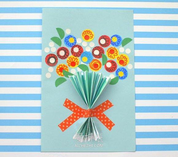 布娃娃花束怎么做_怎么做国庆节花束贺卡的制作方法简单又漂亮_爱折纸网