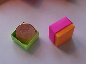 怎么用便签纸折纸小盒子的折法图解教程