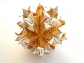 漂亮纸花球怎么折的图解教程