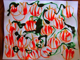怎么用卷纸芯做万圣节南瓜贺卡的制作方法
