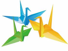 手工折纸祈福千纸鹤的折叠方法步骤图