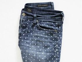 怎么做波点牛仔裤的最简单改造方法图解