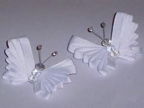 怎么做缎带蝴蝶饰品的手工制作方法教程