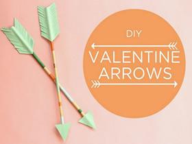 怎么做情人节爱情之箭装饰的制作方法图解