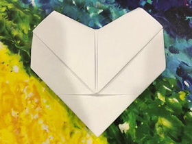 怎么简单折纸爱心情书的折法图解教程
