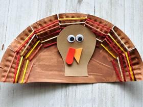 怎么做感恩节纸盘火鸡的简单手工教程