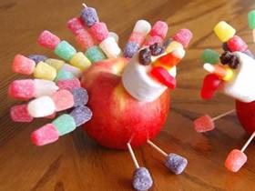 怎么用苹果和软糖做感恩节火鸡的制作方法
