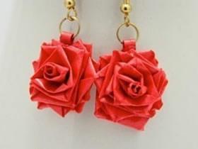 衍纸制作玫瑰花 还能变成漂亮耳环!