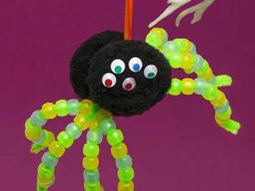 怎么用扭扭棒做万圣节蜘蛛装饰的制作方法