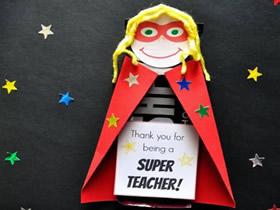 怎么用巧克力做教师节超级老师礼物的制作方法