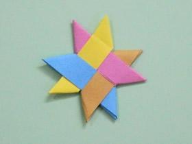 怎么用纸条编织四色星星的编法步骤图解