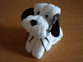 怎么用毛巾做狗狗布偶的折叠方法图解