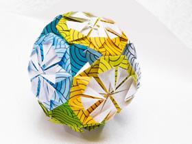 怎么折纸立体花球的折法图解简单又漂亮