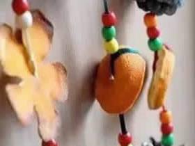 怎么用橘皮和松果做秋天装饰的制作方法