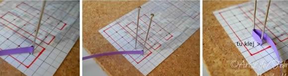 钉板做衍纸花的手工制作教程