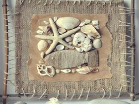 怎么用贝壳做海洋风装饰画的制作方法
