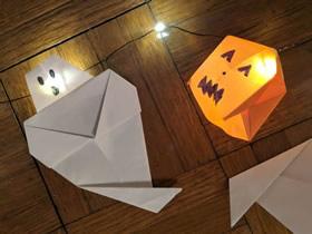 怎么折纸制作幽灵和南瓜灯装饰的制作方法