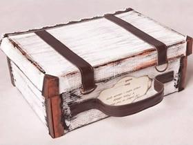 怎么用鞋盒做复古风收纳箱的制作方法