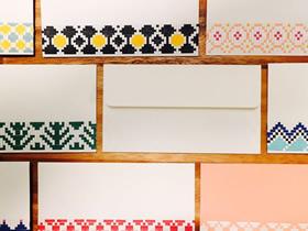 怎么做带编织图案的信封 简单制作方法学起来!