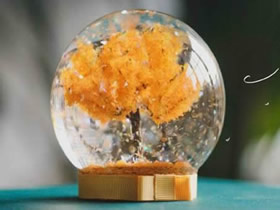 """怎么做""""秋天的树""""水晶球的制作方法"""