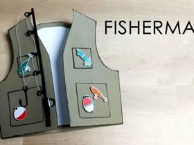 给爸爸的创意卡片!渔夫背心贺卡的制作方法