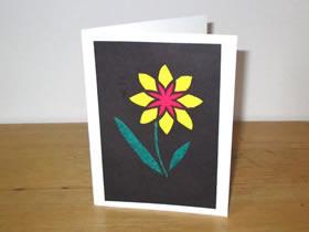 花朵图案的感谢卡制作方法