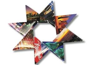 怎么用明信片折纸八角星星的折法图解