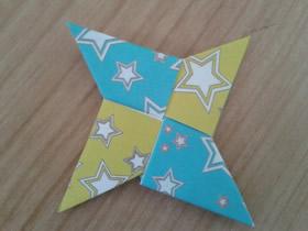 怎么折纸四角飞镖的折法图解教程