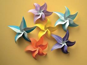 怎么折纸美丽星花的折法图解教程