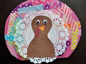 感恩节怎么做火鸡贴画的手工制作方法