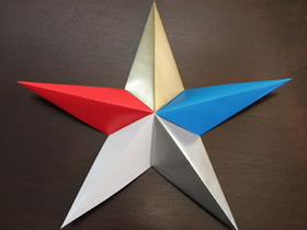 漂亮立体星星的折法图解