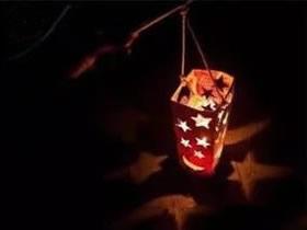 怎么用果汁盒做蜡烛灯笼的制作方法