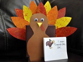 感恩节怎么做火鸡盒子的制作方法图解
