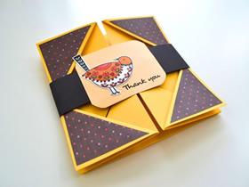 折叠感恩卡的制作方法