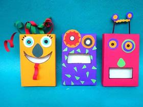 怎么用纸盒子制作可爱怪物的方法