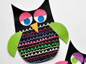 卡纸手工制作猫头鹰的方法
