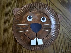 纸盘手工制作土拨鼠的方法