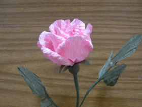 粉红纸玫瑰的制作方法图解