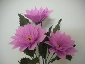 皱纹纸制作大丽花的方法