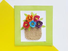 自制立体花朵感恩卡片的方法