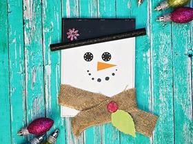 新年雪人卡片的制作方法