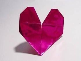 漂亮纸心的折法图解