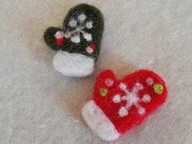 怎么做羊毛毡手套的方法