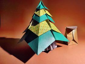 漂亮圣诞树的折纸方法图解