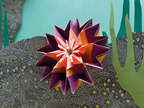 海葵的折纸方法图解
