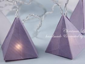 三角形灯罩的折纸方法图解