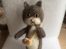 羊毛毡猫咪的制作方法图解